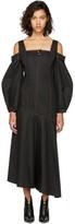 Ellery Black Mississippi Off-the-Shoulder Dress