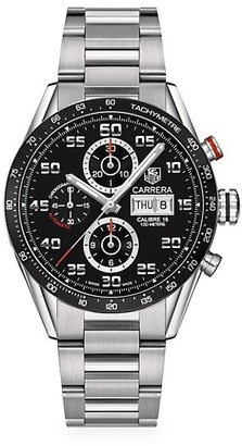 Tag Heuer Carrera 43MM Stainless Steel Automatic Tachymeter Chronograph Bracelet Watch