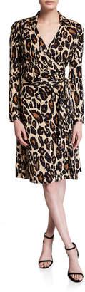 Diane von Furstenberg New Jeanne Two Leopard-Print Shirt Dress