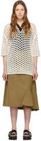 3.1 Phillip Lim White Wool Open Knit Polo Dress