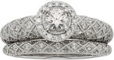 JCPenney MODERN BRIDE 1 CT. T. W. Certified Diamond Art Deco Bridal Ring Set