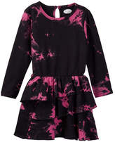 Frenchie Mini Couture Pink and Black Tie Dye Dress (Baby, Toddler, Little Girls, & Big Girls)