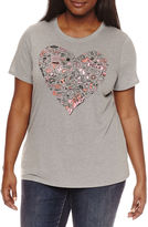 Arizona Boy Bye or This is the real me or Sketch Heart Graphic T-Shirt- Juniors Plus