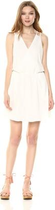 Cooper & Ella Women's Crepe Mia Strappy Detail Wrap Tank Pocket Dress