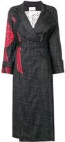 Koché printed detail trench coat