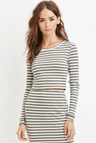 Forever 21 Striped Knit Croptop