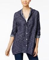 Style&Co. Style & Co Hooded Handkerchief-Hem Jacket, Created for Macy's