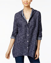 Style&Co. Style & Co Hooded Handkerchief-Hem Jacket, Only at Macy's