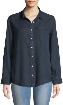 DL1961 Nassau & Manhattan Lace-Up Button-Front Shirt