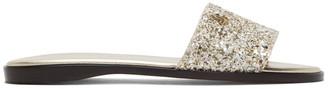 Jimmy Choo Gold Minea JC Flat Sandals