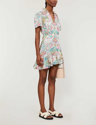 Sandro Irenn graphic-print woven midi dress