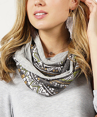 Lydiane Women's Cold Weather Scarves Olive - Olive Geo Infinity Scarf - Women