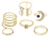 Charlotte Russe Embellished Stackable Rings - 6 Pack