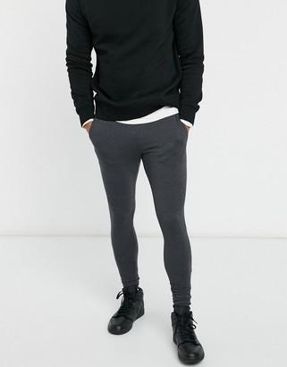 ASOS DESIGN lightweight super skinny joggers in grey