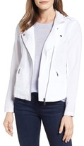 Nic+Zoe Women's Linen Blend Biker Jacket