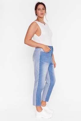 Nasty Gal Womens Two Sides to Every Story Plus Mom Jeans - Blue - 20