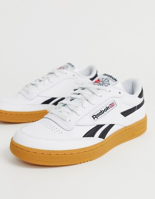 Reebok classic revenge plus trainers with gum sole in white