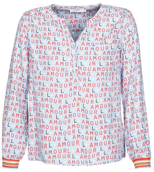 Cream SAHARA women's Blouse in Blue