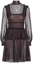 Alexander McQueen Patchwork Sheer Lace Mini Dress