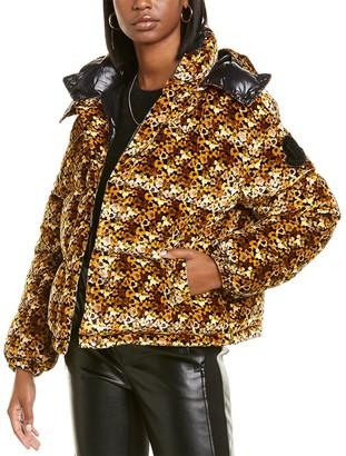Moncler Daos Short Silk-Blend Down Jacket