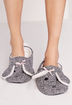 Missguided Bunny Slippers Grey
