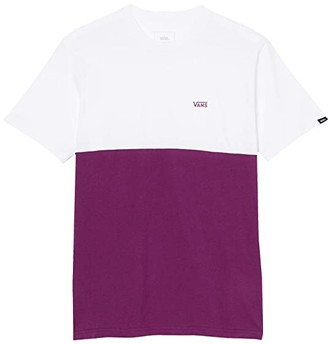 Vans Color Block Tee (Black/Athletic Heather) Men's Clothing