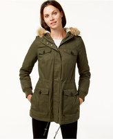 Levi's Hooded Faux-Fur Sherpa-Lined Jacket