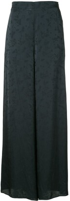 Rosetta Getty Floral Detail Palazzo Trousers