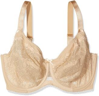 Glamorise Women's Full Figure Plus Size Wonderwire Lace Bra #9845