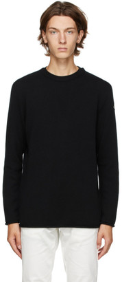Moncler Black Knit Wool and Cashmere Sweater