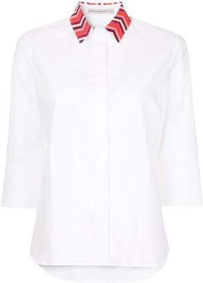 Mary Katrantzou colour embroidered collar shirt