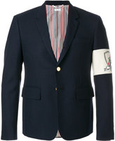 Thom Browne sleeve embroidery blazer
