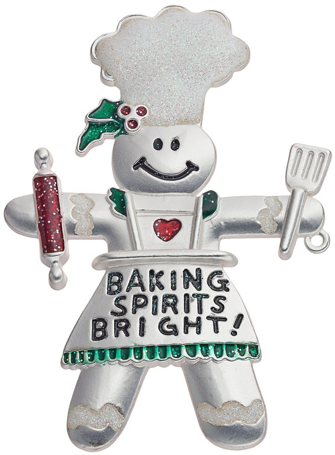 Thumbnail for your product : Gingerbread Man ''Baking Spirits Bright!'' Pin