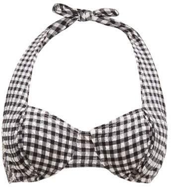 ac3f86738ad Black And White Stripes Bikini Top - ShopStyle