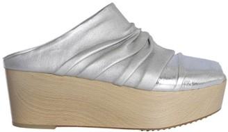Rick Owens Metallic Platform Sandals