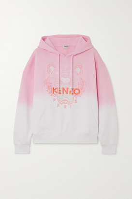 Kenzo Embroidered Degrade Cotton-jersey Hoodie - Pink