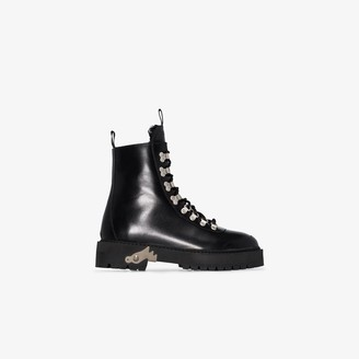 Off-White Ankle-High Hiking Boots