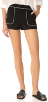 Alice + Olivia Rosette Patch Pocket Shorts