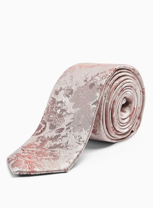 Topman Pink and Blue Jacquard Floral Tie