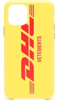 Vetements Dhl-print Leather Iphone 11 Pro Case - Multi