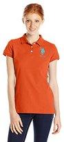 U.S. Polo Assn. Junior's Neon Logos Short Sleeve Polo Shirt