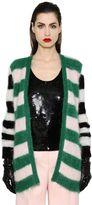 Max Mara Striped Mohair & Wool Knit Cardigan