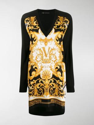 Versace Barocco Rodeo print dress