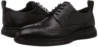 Ecco ST.1 Hybrid Lite GORE-TEXtm Brogue (Black) Men's Shoes