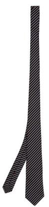Brunello Cucinelli Striped Silk-faille Tie - Blue White
