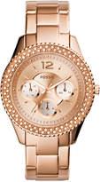 Fossil Women's Stella Rose Gold-Tone Stainless Steel Bracelet Watch 38mm ES3590