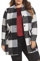 Junarose Plus Size Women's Check Jacket
