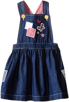 Pumpkin Patch Kids Patchwork Denim Pinnie (Infant)