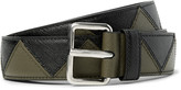 Prada 3cm Two-Tone Saffiano Leather Belt