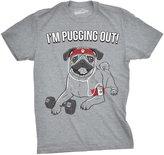 Crazy Dog T-shirts Crazy Dog Tshirts Youth Funny Im Pugging Out Pug Dog T Shirt for Kids -L